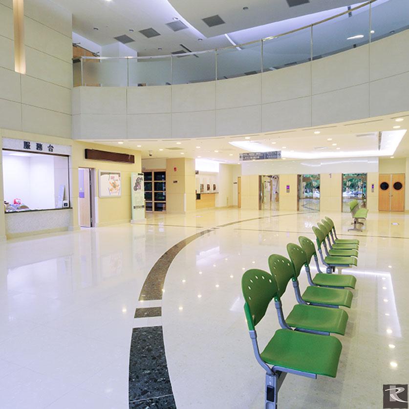羅馬崗石人造石雅典娜系列CJ賦予台中靜和醫院柔和溫暖的大廳空間感
