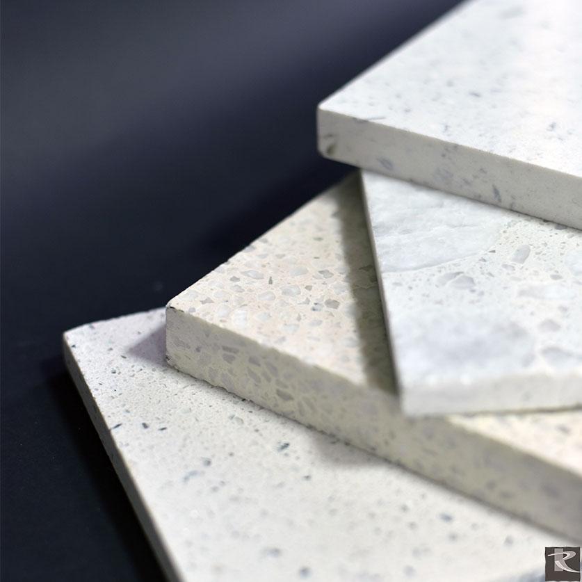 羅馬崗石人造石保有天然石的紋路,但大幅降低大理石的放射性特質,真正的國際標準綠建材。