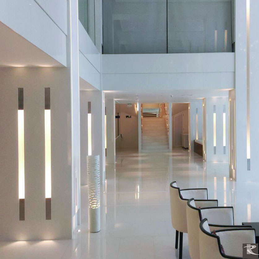 斯里蘭卡可倫坡華美達飯店使用的是來自台灣羅馬崗石人造石巴克斯系列及萊姆石系列的建材精品