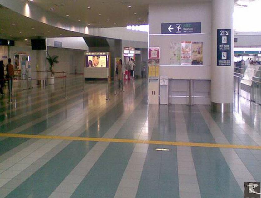 日本福岡空港地坪使用的是來自台灣羅馬崗石人造石蒂雅系列的建材精品