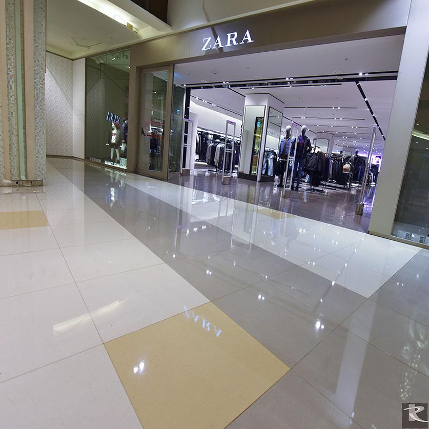 大江購物中心採用羅馬崗石晶燦壯碩效果的阿波羅系列