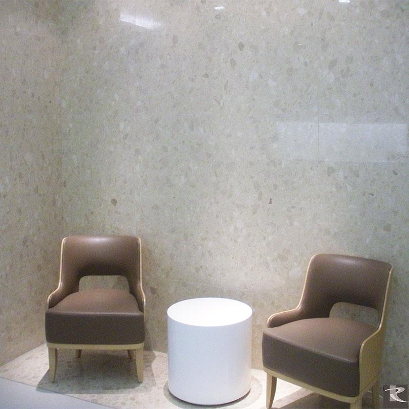 天津和睦家醫院使用的是來自台灣羅馬崗石人造石迪奧系列的建材精品